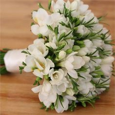 fragrant freesia comes in many colors wedding flower bouquet, bridal bouquet, wedding flowers, add pic source on comment and we will update it. www.myfloweraffair.com can create this beautiful wedding flower look.