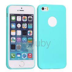 Flexible Silikonhülle für iPhone 5S 5 - Blau