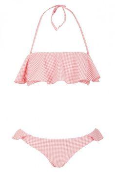 Topshop Ruffle Gingham Bikini