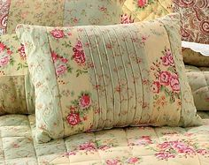 SHABBY-PINK-SAGE-ROSES-BREAKFAST-BED-PILLOW-PILLOW-16-X12-SWEET-CHIC