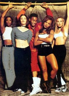 """""""Living Color"""" Fly Girl dancers - Jennifer Lopez joined the show as a Fly Girl in the third season of In Living Color (1990-94, Fox)"""