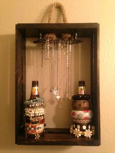 Stained Wood Jewelry Display Case For Bracelets by SGCasitas, $40.00