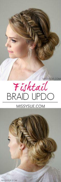 Fishtail Braid Updo