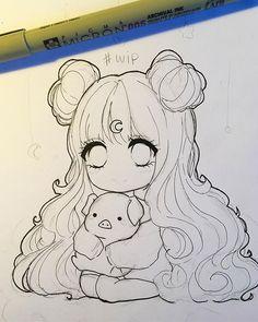 WEBSTA mrsboo It has been 17282829202927820 years that i have not drawn a chibi Enfin je fais ton dessin mdr mais j ai la flemme de colorier aujourdhui en plus la luminosit est horrible donc vais foirer apr s honeychild sorry lel prout tu minerve Anime Drawings Sketches, Pencil Art Drawings, Anime Sketch, Kawaii Drawings, Cartoon Drawings, Cute Drawings, Manga Drawing, Dibujos Anime Chibi, Arte Sketchbook