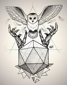 owl geometric drawing - Google Search