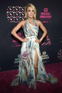 Carrie Underwood looked regal at the CMT Music Awards in Nashville, Tennessee, on June 8, 2016, in this gorgeous Mikael D. dress. Fashion Hits and Misses for June 2016