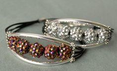 Glittery Tube Bead Bracelet | AllFreeJewelryMaking.com