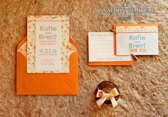 orange, with stitching and floral - southall eden paperie