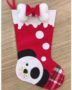 7 Botas Natalinas em Feltro - Molde para artesanato Felt Stocking, Christmas Stockings, Holiday Decor, Home Decor, Crafts, Diy Dog, Craft, Boots, Xmas