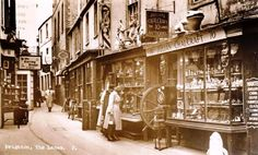 An Old Photo of Julian Chalcraft Antiques Shop in the Lanes in Brighton East Sussex England