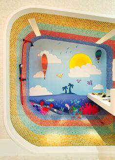 Banheiro infantil. Veja mais em Casa de Valentina: http://www.casadevalentina.com.br/ #kidsbathroom #banheiros #cores