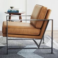 West Elm in collaboration with Inscape designed four office furniture collections (mid-century, modern, industrial, and contemporary). This armchair is from industrial collection.