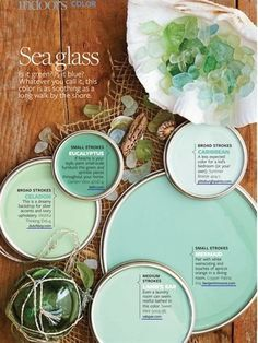 Paint colors inspired by sea glass