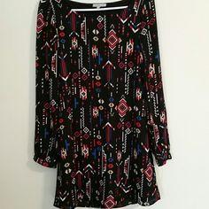 Grimetric graphic print tunic style dress size M Lightweight long sleeve .geometric print  charlotte russe Charlotte Russe Dresses