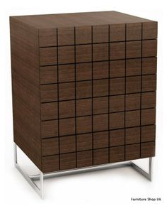 Barcelona Walnut Contemporary Chest of Drawers