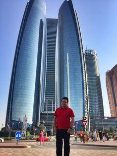 Etihad towers in the capital city of UAE...#abudhabi #UAE #etihadtowers www.mrexpatstravel.com
