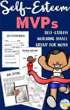 Self-Esteem activities for kids. Help students identify their strengths and build self-esteem with this counseling group for elementary boys. Elementary School Counselor, School Counseling, Elementary Schools, Group Counseling, Social Emotional Learning, Social Skills, Social Work, Self Esteem Activities, Group Activities
