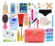 """""""School Emergency Kit"""" by sweetprep101 ❤ liked on Polyvore featuring Tory Burch, Marc Jacobs, Burt's Bees, Ralph Lauren, Twistband, Clean & Clear, Sephora Collection, NYX, Tweezerman and The Honest Company"""