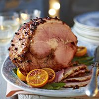 Christmas ham with membrillo glaze