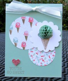 Krystal's Cards: Stampin' Up! Honeycomb Sweetness #stampinup #krystals_cards #honeycombhappiness