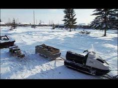 Переезд реки на снегоходе