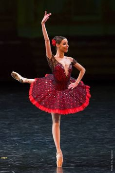 Sparkly red ballet costume