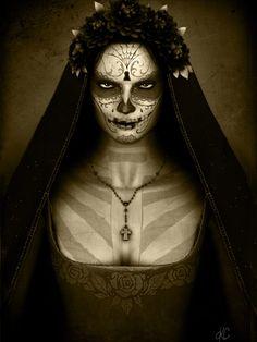 Santa Muerte by Helrog.deviantart.com on @deviantART