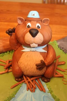 beaver cake in bed - Google Search