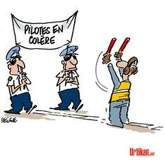 Air France : les pilotes dans la rue - Dessin du jour - Urtikan.net