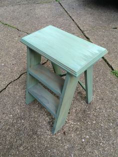 Heirloom Traditions Paint A Lovely Little Step Stool Done In A Wash Of  Privilege.