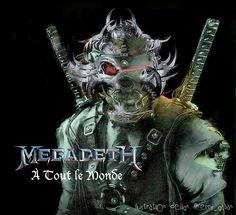 "greenlinedesign: """"À tout le monde "" album Youthanasia 1994..megadeth..#megadeth #vicrattlehead #rattlehead #Youthanasia #album #Àtoutlemonde #song #rock #metal #thrashmetal #speedmetal #heavymetal..."