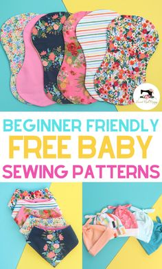 baby diy Learn how to sew adorable bandana baby bibs, hats and burp cloths with these free and easy sewing patterns with step-by-step tutorials. SVG files included for the Cricut Maker! Easy sewing tutorials perfect for beginners. Baby Sewing Projects, Sewing Projects For Beginners, Sewing For Kids, Free Sewing, Sewing Tutorials, Sewing Hacks, Sewing Tips, Sewing Machine Projects, Sewing To Sell