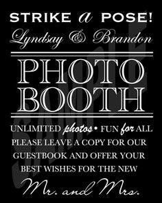 #Wedding #PhotoBooth #Guestbook Sign by WeddingsByJamie on Etsy, $15.00