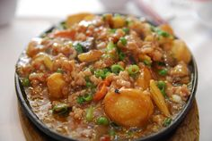 Sizzling Japanese tofu with minced pork