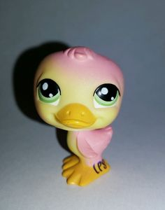 Littlest Pet Shop Pink Yellow Duck Green Eyes #1002 Preowned LPS in Toys & Hobbies, Preschool Toys & Pretend Play, Littlest Pet Shop | eBay