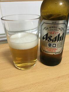 Asahi cerveza lager japonesa. 5%. Brewery, Beer Bottle, Drinks, Ale, Beer, Drinking, Beverages, Drink, Beverage