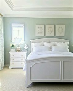 Charmant Walls Are Restoration Hardware Silver Sage (gray/green/blue Tranquil  Spa Like Feel), Furniture Is Painted Sherwin Williams (premium In Satin  Finish) Elder