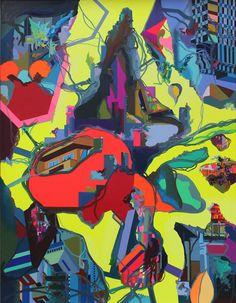 Franz Ackermann | Urban wild card (2014) | Artsy Digital Museum, Ap Art, Figure Painting, Contemporary Paintings, Doodle Art, Oil On Canvas, Modern Art, Abstract Art, Artsy
