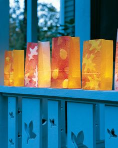 These luminarias are perfect for lighting the way to your front porch, on Halloween or for any fall party.