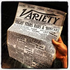 """A 1900 Variety Magazine from """"Moon over Buffalo"""". I took one of the university papers and glued the print of Variety to the cover and bent the edges while adding color for age."""