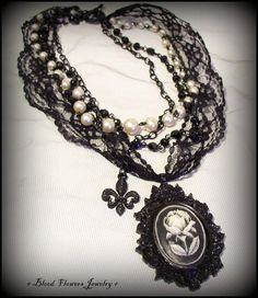 ARSENIC OLD LACE Gothic Noir Victorian Mourning by BloodFlowers, $57.00
