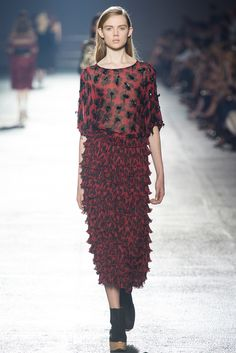 Dries Van Noten Spring 2014 Ready-to-Wear Fashion Show - Holly Rose Emery (Next)