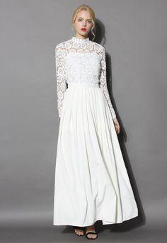 Flower Dance Crochet Maxi Dress
