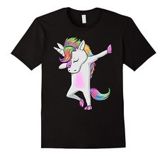 Fabulous Dabbing Unicorn Shirt - rainbow hair Dab Dance Gift