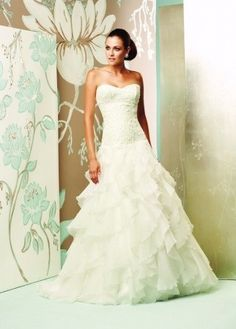Paloma+Blanca+4155+Size+14+Pre-Owned+Wedding+Dress+ +Still+White+United+Kingdom