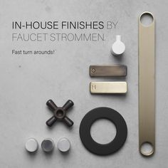 Beautiful finishes created in a very short lead time, perfect for fast paced, luxurious projects.   Antique Brass Medium Antique Brass Light Raw Brushed Brass Brushed Nickel Matte Black Matte White  Call us for your samples and check out the website link below.