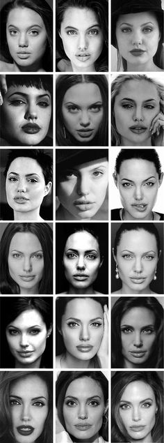 *portraits, black and white photography, angelina Jolie*