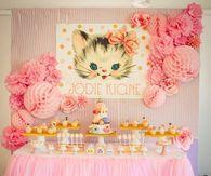 Kitten themed Birthday Party