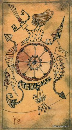 X. The Wheel of Fortune - Lost Code Of Tarot by Andrea Aste