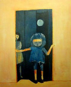 Girl in a Doorway, Charles Blackman. Australian, born in Australian Painting, Australian Artists, Alice In Wonderland Series, Fabric Photography, Art Database, Modern Artists, Aboriginal Art, Soft Sculpture, Contemporary Paintings
